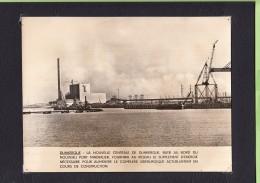 DUNKERQUE - Photo Centrale  Thermique EDF Mise En Service En 1962 + 1 CPA -   Lire Descriptif - 2 Scans - Dunkerque