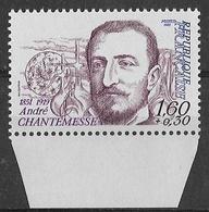 France Variété1982 - Bas De Feuille - André Chantemesse ( Gomme Tropicale Mate) - Y&T N° 2229 ** Neufs Luxe - Variétés: 1980-89 Neufs