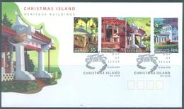 CHRISTMAS - FDC - 13.06.2006 - HERITAGE BUILDING - Yv 585-588 - Lot 17314 - Christmas Island