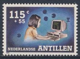 Nederlandse Antillen 1988 Mi 648 A ** Girl Using Computer / Mädchen Am Computer - Freizeitgestaltung- Child Welfare - Computers