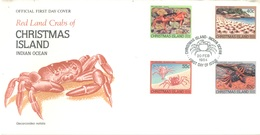 CHRISTMAS - FDC - 20.2.1984 - RED LAND CRABS - Yv 185-188 - Lot 17315 - Christmas Island