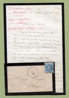 """LANGRES (52) : N° 29A Oblitéré GC 1947 : """" DISTRIBUTION DE L'EAU à LANGRES - 1870 """" - Marcophilie (Lettres)"""