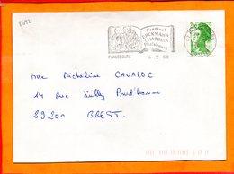 MOSELLE, Phalsbourg, Flamme SCOTEM N° 8092, Festival Erckmann Chatrian - Marcophilie (Lettres)