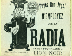 """"""" RADIA PÂTE A FOURNEAUX - LION NOIR """"  22 X 26 Cm - Pubblicitari"""
