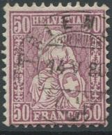 1927 - TRIENGEN 14 V 80 Vollstempel Auf 50 Rp. Sitzender Helvetia - 1862-1881 Helvetia Assise (dentelés)