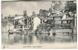ISOLA BELLA Lago Maggiore Barchette Vecchie Case Pubblicità Hotel Arona 1907 - Altre Città