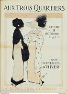 """Catalogue """"AUX TROIS QUARTIERS"""" NOUVEAUTES D'HIVER 1911 - Mode"""