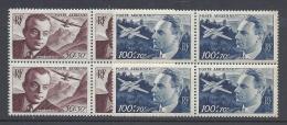 FRANCE 1949 AIR MAIL  Nº 21/22 BLOCKS - Luchtpost
