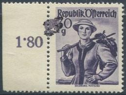 1928 - 30 Groschen Trachten - Salzburg Polgau Mit ABART Druckverschmierung Mit Befund Soecknick - Abarten & Kuriositäten