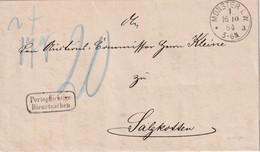 ALLEMAGNE 1884 LETTRE TAXEE DE MÜNSTER - Allemagne