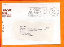 MOSELLE, Saint Avold, Flamme SCOTEM N° 9741, 25e Anniversaire Jumelage Avec Dudweiler, Port Payé - Sellados Mecánicos (Publicitario)