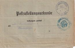 ALLEMAGNE 1914 CERTIFICAT DE NOTIFICATION PAR VOIE POSTALE DE NIEDERKAUFUNGEN - Germania