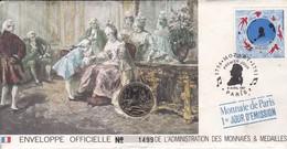 TIMBRE  Premier Jour  PARIS  1991--MOZART + MONNAIE--voir 2 Scans - Musique