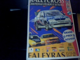 Affiche Rallycross 21 X 30 Cm Env  FALEYRAS MAI 1995 Grand Prix Acuvue - Affiches