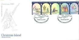 CHRISTMAS - FDC - 28.10.1985  - CHRISTMAS - Yv 210-214 - Lot 17317 - Christmas Island