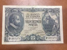 C.R. 25 PESETAS. MADRID 1940. SERIE B. MBC - [ 3] 1936-1975 : Régimen De Franco