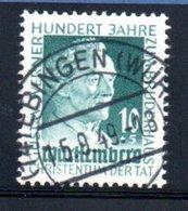 Wurttemberg /  N 44 / 20 + 10 P Vert  / Oblitéré - Wurttemberg
