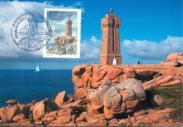 CM-Carte Maximum Card # 2018-France # Sites & Monuments #Architecture # Phare,Leuchtturm,Lighthouse ,Ploumanac&acute - 2010-2019