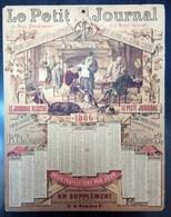 Calendrier Le Petit Journal 1886 - Calendars