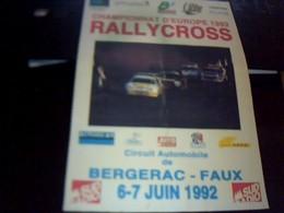 Affiche 21  X  30  Cm Env  Rallycross Bergerac. Faux Juin 1992 - Afiches