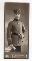 Y4816/ CDV Foto Soldat Uniform  Atelier Aug. Nolte, Hannover  Ca.1905 - Foto