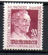 Wurttemberg /  N 45 / 20 + 10 P Lilas  / NEUF Avec Trace De Charnière - Wuerttemberg