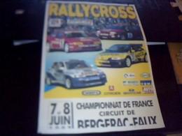 Affiche 21  X  30  Cm Env  Rallycross Bergerac. Faux Juin 1997 - Affiches