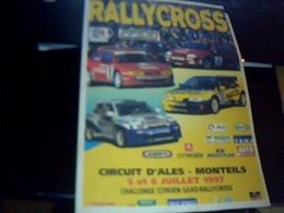 Affiche 21  X  30  Cm Env  Rallycross Circuit D Ales Monteils Juillet 1997 - Afiches