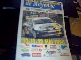 Affiche 21  X  30  Cm Env  Rallycross Circuit De  Mayenne Chatillonsur Colmont 1996 - Affiches