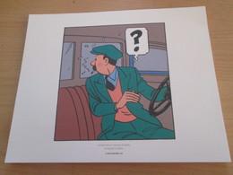 TIRE A PART 2010 DE TINTIN HERGE Par Les EDITIONS MOULINSART Sur Papier épais 24cm X 19.3 Env . TTB état - Screen Printing & Direct Lithography