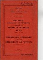 VP12.673 - LILLE 1935 - Compagnie Du Chemin De Fer Du Nord - Lignes Françaises - Réglement Concernant Le Personnel.... - Chemin De Fer