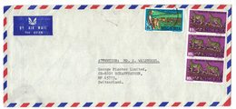 A59  Nigeria, Airmail Cover To Switzerland,1983  Stamps  Leopard Yancari Game Reserve, Cattle Ranching - Nigeria (1961-...)