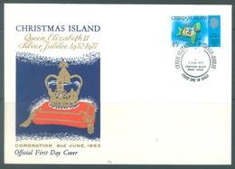 CHRISTMAS - FDC - 1.06.1977  - SILVER JUBILEE ELIZABETH II - Yv 73 - Lot 17319 - Christmas Island