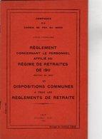 VP12.674 - LILLE 1935 - Compagnie Du Chemin De Fer Du Nord - Lignes Françaises - Réglement Concernant Le Personnel.... - Chemin De Fer