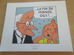 TIRE A PART 2010 DE TINTIN HERGE Par Les EDITIONS MOULINSART Sur Papier épais 24cm X 19.3 Env . TTB état - Sérigraphies & Lithographies