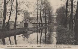 CPA 78 SAINTE MESME  Aux Environs De Dourdan - Ecole Militaire De Chauffeurs Automobiles 1917 - Frankreich