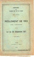 VP12.677 - LILLE 1929 - Compagnie Du Chemin De Fer Du Nord - Lignes Françaises - Réglement De 1912 .... - Chemin De Fer