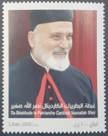 Lebanon NEW 2018 MNH Stamp, The Maronite Patriarch Cardinal, Nasrallah Sfeir - Lebanon