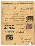 Austria, Suppenwürfel-Fabrikation Prag Company Postal Card Travelled 191? Praha Pmk B180702 - Briefe U. Dokumente