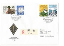 21165 - Militaria Suisse  Cover Feldpost Hilfsdienste FP 51 R 836 Pour 6023 Rothenburg 10.10.1991 - Schweiz