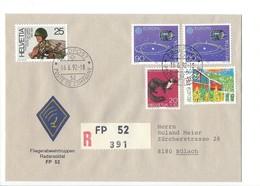 21166 - Militaria Suisse  Cover Feldpost Radarsoldat FP 52 R 391 Pour 8180 Bülach 16.06.1992 - Zwitserland