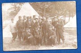 Carte Photo  - Soldats Français  - Bivouac - War 1914-18