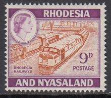 Rhodesia And Nyasaland 1959/1962 - Definitive Stamp 9d: Rhodesia Railways - Mi 26 ** MNH - Rhodesia & Nyasaland (1954-1963)