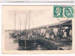 CPA 9X14 DJIBOUTI   QUAIS DE LA DOUANE1925 - Gibuti