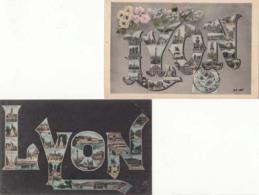 5 Cartes Souvenir De Lyon  : Achat Immédiat - Greetings From...