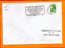MOSELLE, Metz, Flamme Non Illustrée, Championnat Du Monde De Moto-cross 250 Cm3, 18 Juin 1989 - Marcophilie (Lettres)