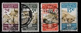 Ned Indie 1935 Military - Genie, Cavalerie,Artillerie, Infanterie NVPH 217-220 Gestempeld/ Cancelled - Nederlands-Indië