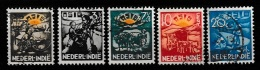 Ned Indie 1937 ASIB NVPH 230-234 Gestempeld/ Cancelled - Luxe - Nederlands-Indië