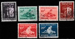 Ned Indie 1939 Sociaal Bureau NVPH 266-271 Gestempeld/ Cancelled. - Nederlands-Indië