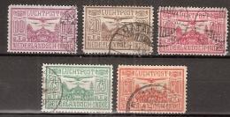 Ned Indie 1928 Luchtpost - NVPH 6-10 Gestempeld/ Cancelled - Indes Néerlandaises